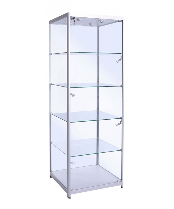 500mm Square Full Glass Display Cabinet