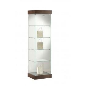 Vollglas Säulenvitrine mit Beleuchtung-FAS-1681-21