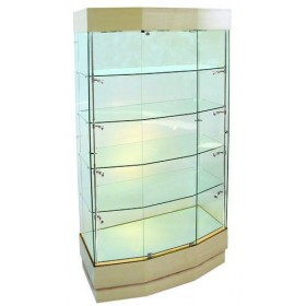 1000 Wide Wooden Glass Display Schrank