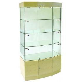 1000mm Glasvitrine aus Holz mit Unterschrank-R5401-21