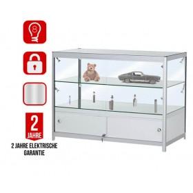 1200mm Klappbare Thekenvitrine aus Glas mit Unterschrank-fdc2-21