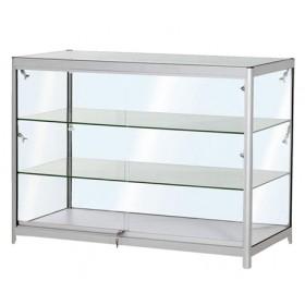 1200mm Faltbare Thekenvitrine aus Aluminium und Glas