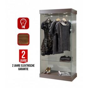 Kleiderschrank aus Glas und Aluminium