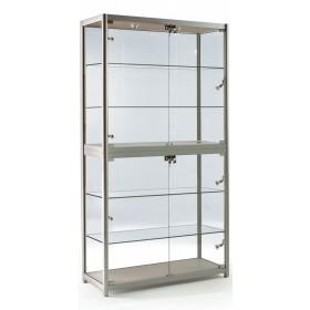 1000mm Falten Aluminiumglas Display Schrank