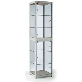 500mm Falten quadratischen Vollglas Aluminium Schrank