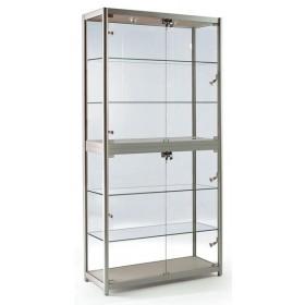 800mm Falten Aluminium Glas Display Schrank-FG-800-21