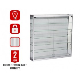 1200mm x 1200mm Satin Silver Wall Display Cabinet LED Beleuchtung
