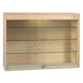 1000mm Eichenfurnier Wooden Glass Display Cabinet