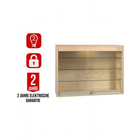 1000mm Holz Wandvitrine mit LED Beleuchtung