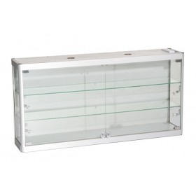 1200mm x 600mm Satin Silber Wand Display Schrank LED Striplight Beleuchtung