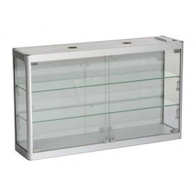 (Ausverkauf) 800mm x 600mm Satin Silber Display Schrank