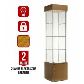 457mm Säulenvitrine aus Glas mit Beleuchtung