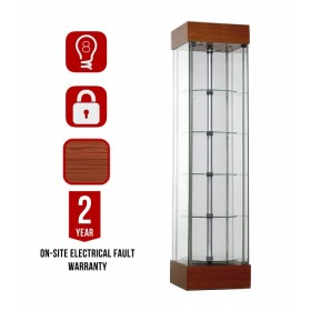 457mm Full Glass Square Top Lighted Display Cabinet-wr457r-21