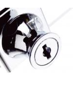 400mm Glasvitrine Quadrat Vollglas Aluminium Vitrine-G-400-01
